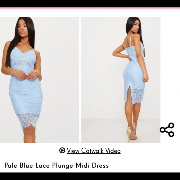 72b356affe PrettyLittleThing Dresses | Pale Blue Lace Dress | Poshmark